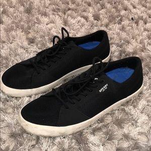 SPERRY Mens Black lace Shoe. Size 8.5